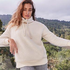 ATHLETA Talus Sherpa Half Zip Pullover Sweater M